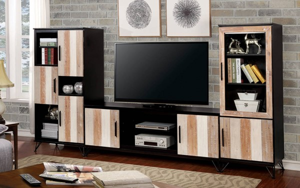 Furniture of America Binche Entertainment Centres with 60 Inch TV Stands FOA-CM5592-TV-60-ENT-S-VAR