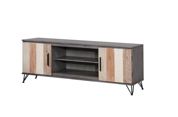Furniture of America Binche Gray 72 Inch TV Stand FOA-CM5592GY-TV-72