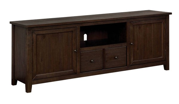 Furniture of America Presho Dark Oak 72 Inch TV Stand FOA-CM5902DA-TV-72