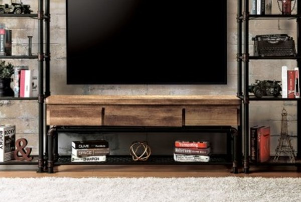 Furniture of America Kebbyll 60 Inch TV Stand FOA-CM5913-TV-PK
