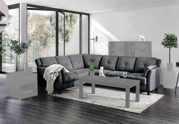 Furniture of America Kaleigh Gray Sectional FOA-CM6021-SECT
