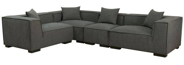 Furniture of America Langdon Sectional FOA-CM6037GY-SET-2L1R1C