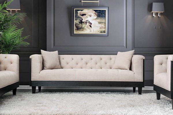 Furniture of America Hillary Beige Sofa FOA-CM6086-SF