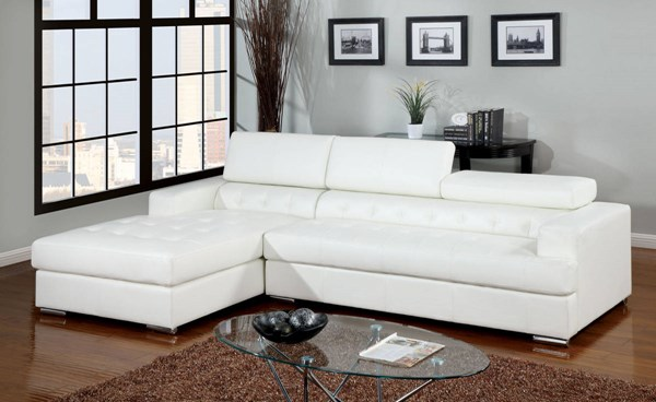Furniture of America Floria White Sectional FOA-CM6122WH-PK