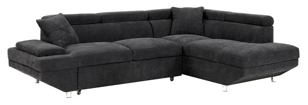 Furniture of America Foreman Black Sectional FOA-CM6124BK-SECT