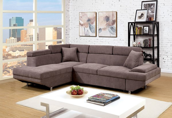 Furniture of America Foreman Brown Sectional FOA-CM6125BR-SECTIONAL