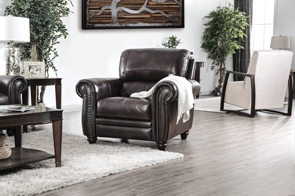 Furniture of America Edmont Brown Chair FOA-CM6133-CH