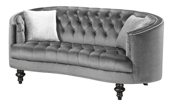 Furniture of America Manuela Dark Gray Love Seat FOA-CM6145GY-LV