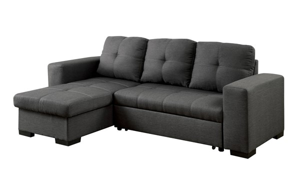 Furniture of America Denton Gray Sectional FOA-CM6149GY-SET