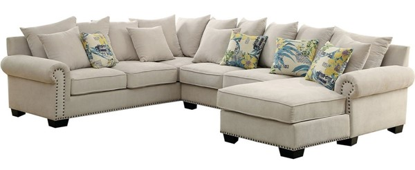Furniture of America Skyler Beige Sectional FOA-CM6156-SECTIONAL