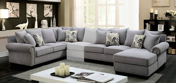 Furniture of America Skyler II Sectional FOA-CM6156GY-SECT