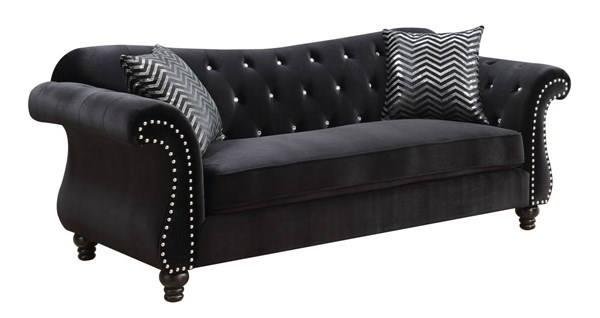 Furniture of America Jolanda I Sofa FOA-CM6159BK-SF
