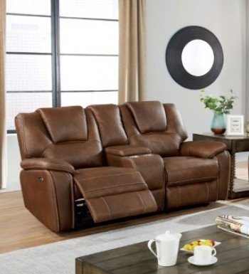 Furniture Of America Ffion Brown Power Loveseat FOA-CM6219BR-LV