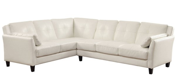 Furniture of America Peever White Sectional FOA-CM6268WH-SET