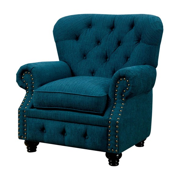 Furniture of America Stanford Dark Teal Chair FOA-CM6269TL-CH