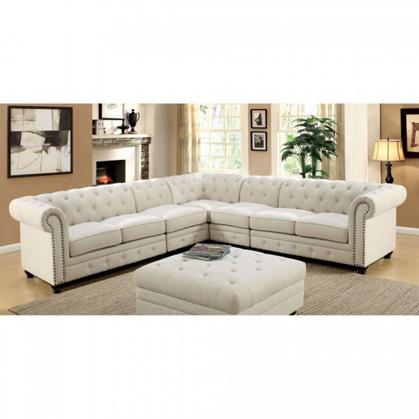 Furniture of America Stanford II Fabric Sectional FOA-CM6270-SET-2CH-VAR