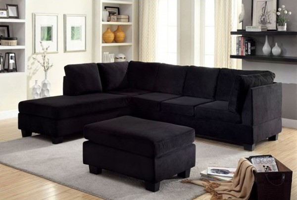 Furniture Of America Lomma Sectional with Ottoman FOA-CM6316-SECTIONAL-OT