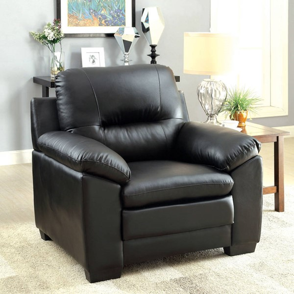 Furniture of America Parma Black Single Chair FOA-CM6324BK-CH
