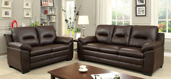 Furniture of America Parma Brown 2pc Living Room Set FOA-CM6324BR-2PC