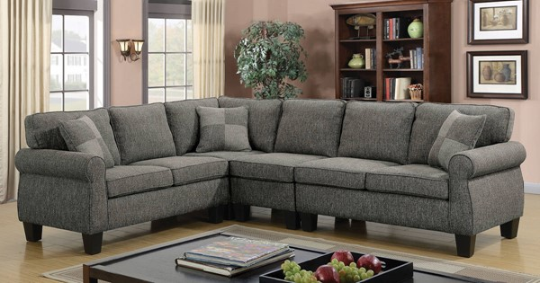 Furniture of America Rhian Dark Gray Sectional FOA-CM6329GY-SECT