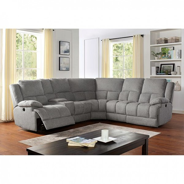 Furniture of America Lynette Gray Sectional FOA-CM6345-SECT