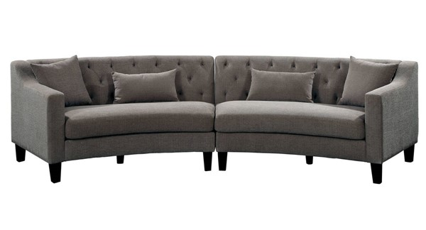 Furniture of America Sarin Warm Gray Sectional FOA-CM6370-SECTIONAL