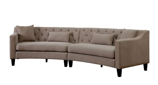 Furniture of America Sarin Taupe Sectional FOA-CM6370LG-SECT