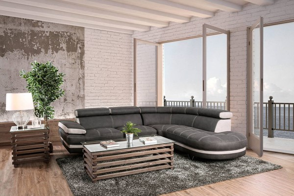 Furniture of America Picard Graphite Sectional FOA-CM6373-SECT