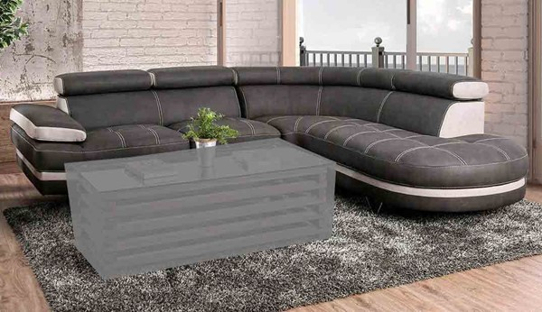 Furniture of America Picard Graphite Beige Sectional FOA-CM6373-SECT