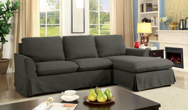 Furniture of America Maxine II Gray Sectional FOA-CM6379GY-SECT