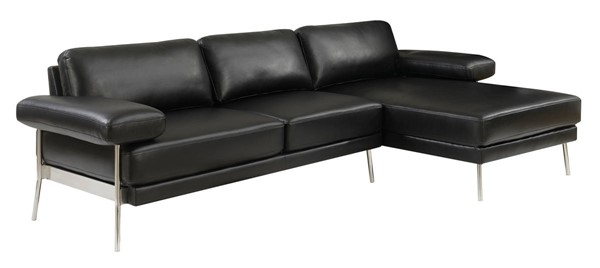 Furniture of America Eilidh Black Sectional FOA-CM6422BK-SECT