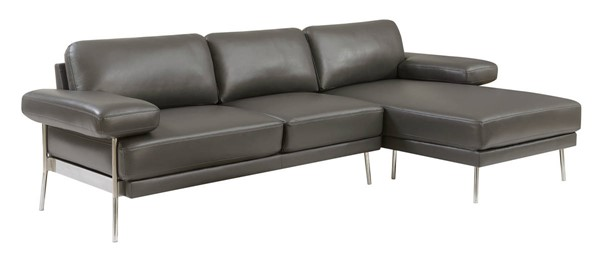 Furniture of America Eilidh Gray Sectional FOA-CM6422GY-SECT