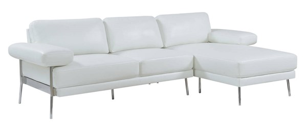Furniture of America Eilidh White Sectional FOA-CM6422WH-SECT