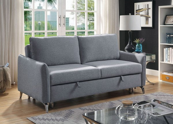 Furniture Of America Sammie Gray Sleeper Sofa FOA-CM6446GY