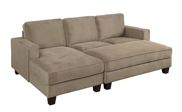 Furniture of America Jancis Sectional with Ottoman FOA-CM6451-SECT