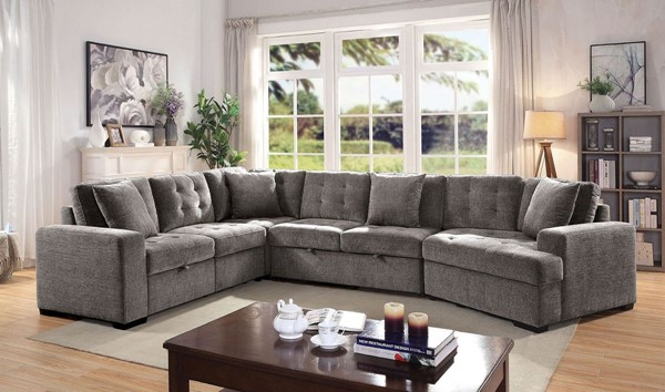 Furniture Of America Steph Gray Sectional FOA-CM6470-SECT