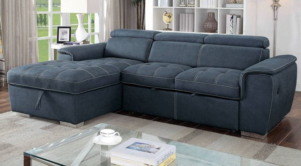Furniture of America Patty Blue Sectional FOA-CM6514BL-SECT