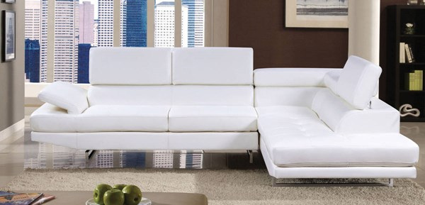 Furniture of America Kemi White Sectional FOA-CM6553WH-PK