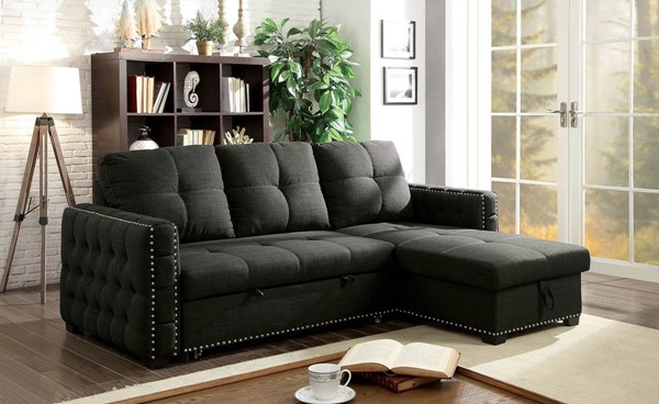 Furniture of America Demi Dark Gray Sectional FOA-CM6562-SECT