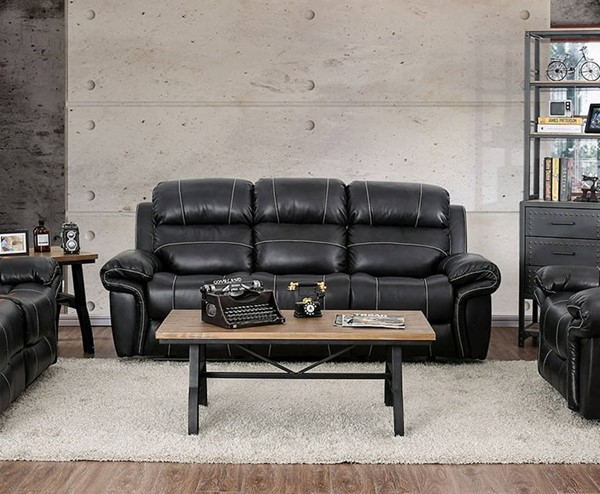 Furniture of America Montserrat Black Sofa FOA-CM6563-SF
