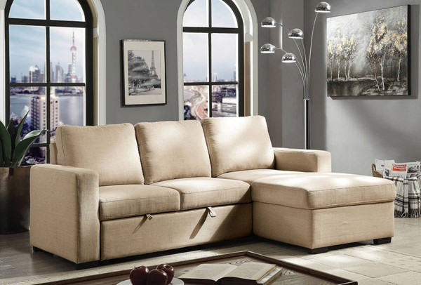 Furniture of America Arabella Beige Sectional FOA-CM6564BG-SECT