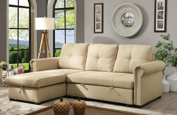 Furniture of America Carter Beige Sectional FOA-CM6569-SECT