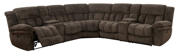Furniture Of America Irene Brown Sectional FOA-CM6585BR-SECT