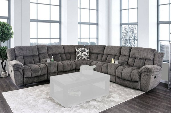 Furniture Of America Irene Gray Sectional FOA-CM6585GY-SECT