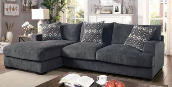 Furniture of America Kaylee Gray L Shaped Sectional FOA-CM6587-SECT-L