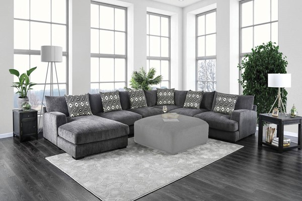 Furniture Of America Kaylee Gray Sectional The Classy Home
