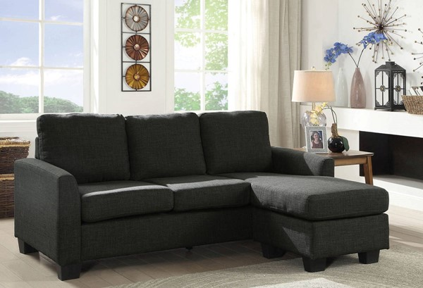 Furniture of America Erin Dark Gray Sectional FOA-CM6593GY