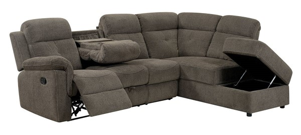 Furniture of America Avia Gray Sectional FOA-CM6597-SECT