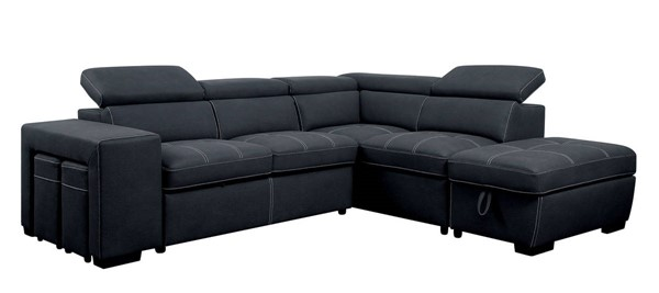 Furniture of America Athene Graphite Sectional FOA-CM6603-SECT