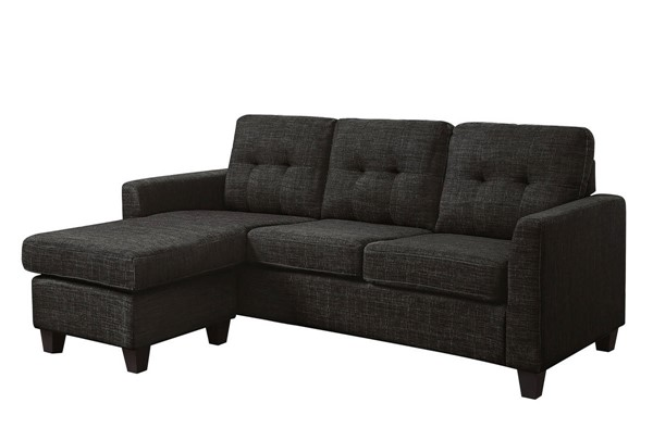 Furniture of America Macey Gray Sectional FOA-CM6609GY